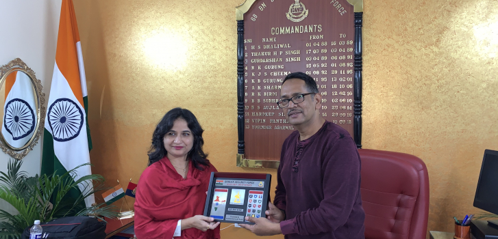 Invitation to Dr. Gauri Joshi for training the Officers & Jawans